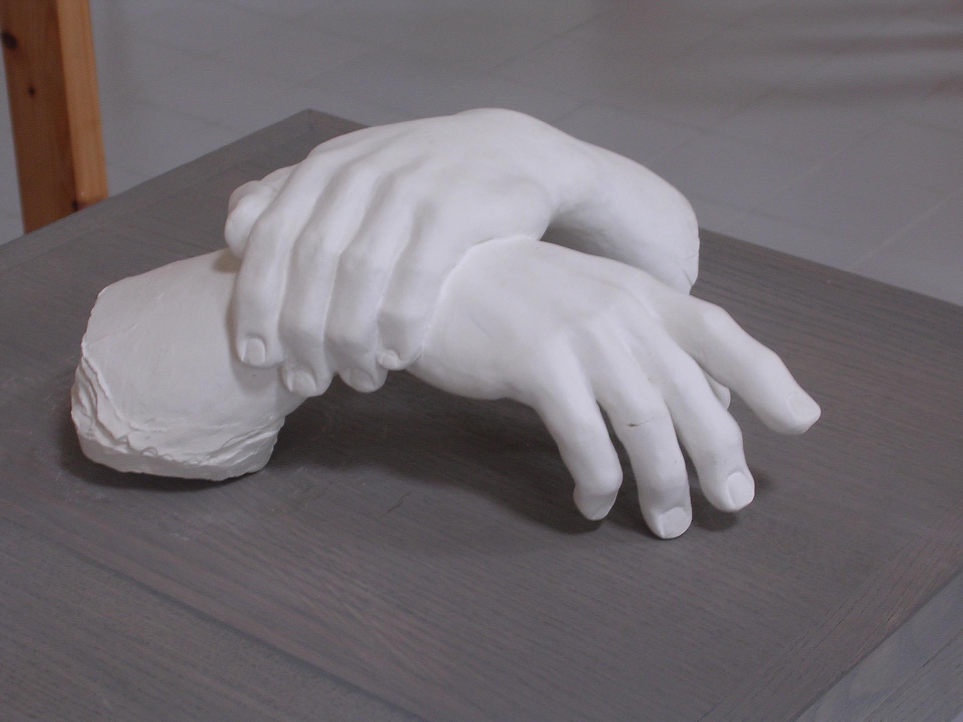 Petites mains-36cm-Platre-1